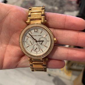 Rose gold Michael kors watch. Needs new battery